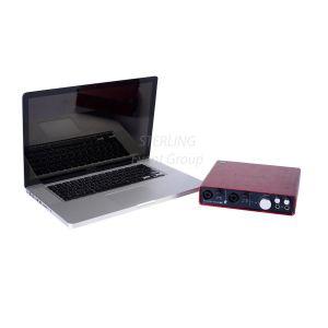 Apple Macbook Pro inc. Scarlet 6i6 Audio Interface