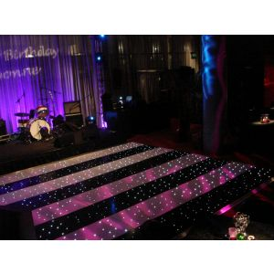 Black and White Striped LED Dance Floor  (per 2ft x 2ft panel)