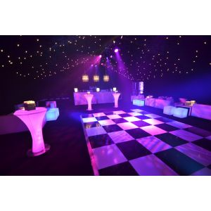 Black and White Chequered Dance Floor  (per 2ft x 2ft panel)