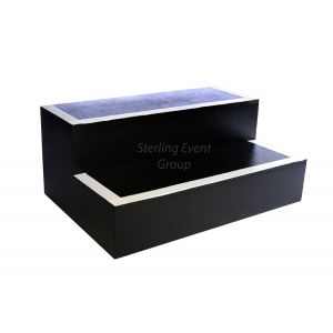 Wooden 2 Tread Steps inc. Black Painted Finish (380mm high)
