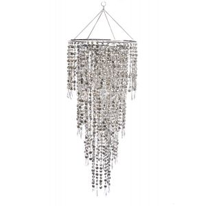 Crystal Droplet Chandelier 1.8m Drop (week rate only)