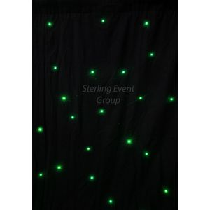 5m x 4m Black RGB LED Starcloth inc. DMX PSU